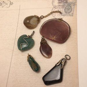 Jewelry - Stone & Glass Pendants